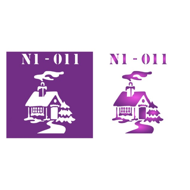 Трафарет N1 -011