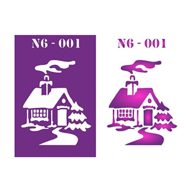 Трафарет N6 -001
