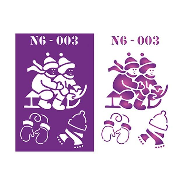 Трафарет N6 -003