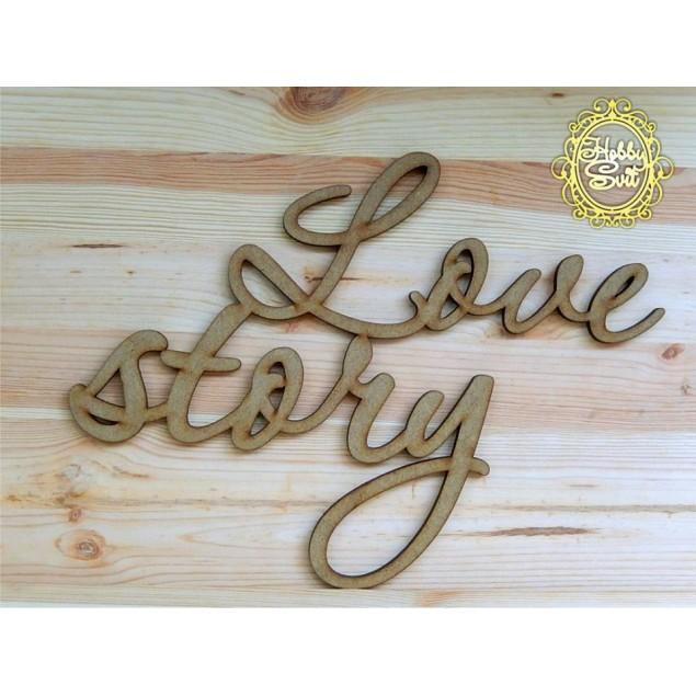 "Слово ""Love story"" довжина, 30 см"