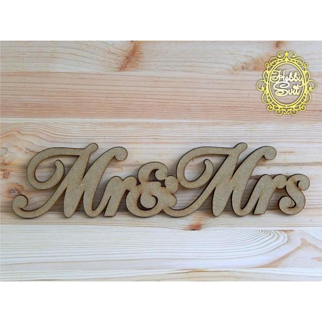 "Слово ""Mr & Mrs"" довжина, 30 см"