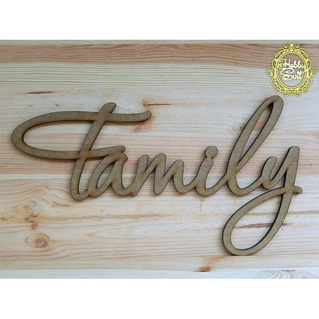 "Слово ""Family"" довжина, 30 см"